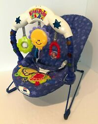 Fisher Price Calming Vibrations Kick and Play Musical Baby Bouncer Seat Vintage $71.24