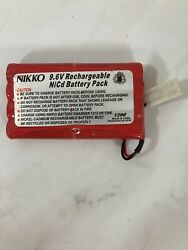 Nikko 9.6V Rechargeable NiCd RC Battery Pack for Remote Control Cars NO CHARGER $16.99