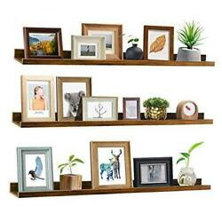 47 Inch Long Floating Shelves for Wall Rustic Picture Ledge 47 inch set of 3 $81.77