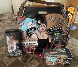 NICOLE LEE Hollywood Star large tote w accessories. RARE Collectors item $229.99
