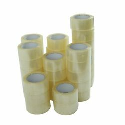 36 ROLLS 2 INCH x 110 Yards 330 ft Clear Carton Sealing Packing Package Tape $49.99
