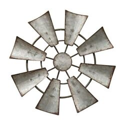 Galvanized Windmill Hanging Wall Decor Ornament 6.5quot; Rustic Country Farmhouse $13.75
