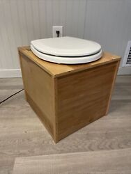 Hand Crafted Composting Toilet w Bucket and Protective Finish $240.00