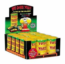 Toxic Waste Ultra Sour Candy 5 Asst Flavors Novelty Bulk Box of 12 Drums 1.28LBS $32.99