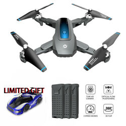 Holy Stone GPS Drone 720P Camera RC Foldable Quadcopter 3 Batteries Cars Toys $89.99
