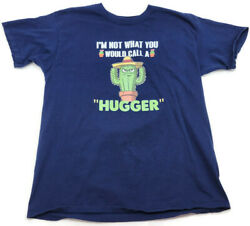 Novelty Funny Men#x27;s I#x27;m Not What You Would Call A Hugger Short Sleeve T Shirt L $16.19