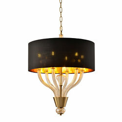 Sagebrook Home Contemporary Crystal Chandelier Lights With Gold Finish 50823 04 $288.64