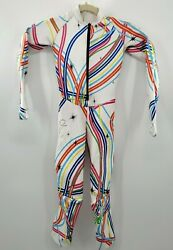 Spyder Girls White Lindsey Vonn Live Wire Downhill Skiing Performance GS Suit $269.99