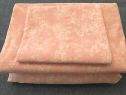 Rachel Ashwell Simply Shabby Chic Rose Slipper Pink White Floral Twin Sheet Set $49.50
