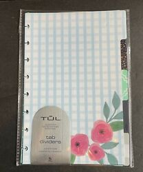 TUL Paper Tab Dividers Junior Size Assorted Fashion Pack Of 5 Dividers New $8.99