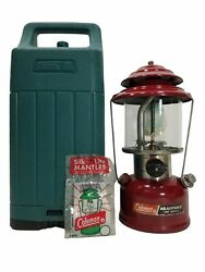 Vintage Coleman 286A Red One Mantle Adjustable Camping Lantern with Case 3 1989 $149.99