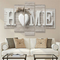 US 5Pcs Concise Fashion Wall Paintings Home Letter Printed Photo Art Home Decor $15.99