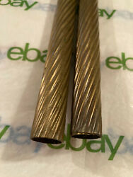 2 Art Deco Swirled Brass Antique Floor Lamp Rod Cover Tubes Parts Free S H $38.00