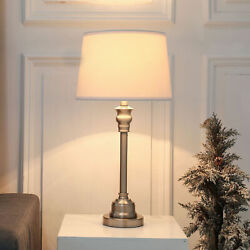 Contemporary White Table Lamp for Bedroom Reading Room Nightstand Desk Lamp $42.48