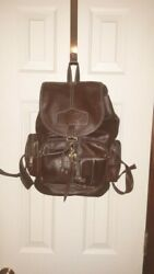 Brown Leather Backpack Purse Large with Multiple Pockets $19.90