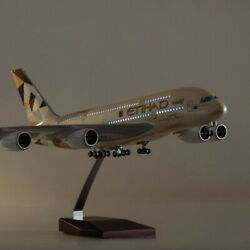 1 160 A380 17quot; Etihad Airplane LED Lamp Resin Aircraft Passanger Plane Model $79.78