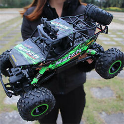 Electric RC Cars 4WD Monster Truck Off Road Vehicle Remote Control Cra $46.40