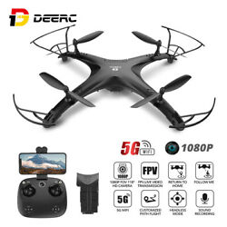 DEERC RC GPS FPV Drone with 1080p HD HD Camera RC Quadcopter 5G Wifi Brushless $169.99