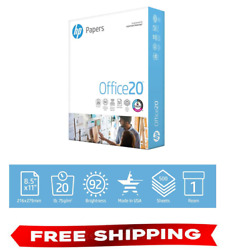HP Printer Paper Office 20 8.5 x 11 Copy Print Letter Size 1 Ream 500 Sheets $6.80