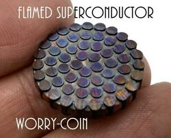 FLAMED DEEP ETCHED Superconductor Challenge Coin Worry Coin Fiddle EDC $149.50