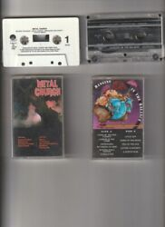 Heavy Metal Cassette: Metal Church; Self Titled Hanging In the Balance $29.99