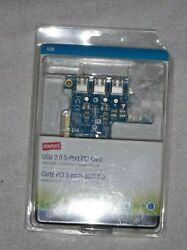 STAPLES USB 2.0 5 PORT PCI Card New in Factory Sealed Blister Pack $10.99