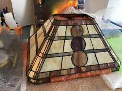 stained glass lamp shade amp; lamp $100.00