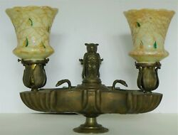 ⭐Grand Tour Solid Bronze Owl Three Light Hanging Oil Lamp Electrified. AMAZING $750.00