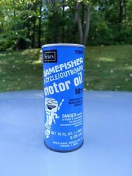 Vintage SEARS Gamefisher 2 Cycle Outboard Motor Oil Vintage Boat NOS 16 Oz. Pint $24.99