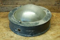 Vintage Antique Holophane Light Industrial Cover wall light $49.95