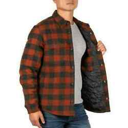 Jachs Wool Blend Flannel Shirt Jacket Quilted Lining Red Black Men#x27;s XXL NWT $29.95