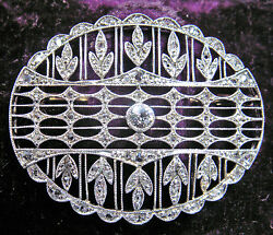 RARE ANTIQUE RUSSIAN EDWARDIAN PLATINUM DIAMONDS BROOCH