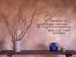 SERENITY PRAYER Home Bedroom Wall Art Decal Words Lettering Words 48quot; $19.95