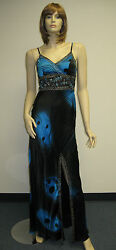 Sue Wong N7388 Evening Beaded Dress Gown wedding 6 Designer Cocktail Black Blue