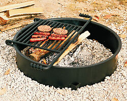 Park Style Backyard Campfire Ring all Steel #FS-307TB from Pilot Rock