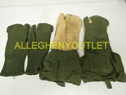 US Military TRIGGER FINGER MITTENS w WOOL INSERTS Hunting MED & LG NEW & USED