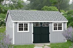 Garden Tool Storage Shed Plans 10' x 20' Gable Roof # D1020G Free Material List