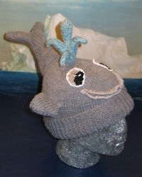KNITTING PATTERN INSTRUCTIONS-THERE SHE BLOWS- WHALE BEANIE HAT KNITTING PATTERN