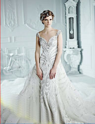 YZ Limited A-line Super Luxury Crystal Article Orangza Wedding Dress