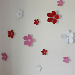 3D Flower Wall Stickers Wall Decors Wall Art Wall Decorations Wall Decals GBP 9.99