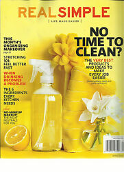 REAL SIMPLE APRIL 2013 ( THIS MONTH'S ORGANIZING MAKE OVER * NO TIME TO CLEAN?