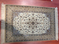 oriental  persian carpet rug 100% handknotted silk&kork w authentic collectable