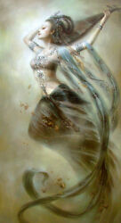 Large art Oil painting Dunhuang flying fairy the World Heritage canvas 24quot;x36quot; $135.99
