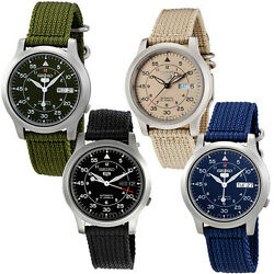 Seiko 5 MILITARY NEW Automatic Day Date Watch SNK803 SNK805 SNK807 SNK809 $109.99