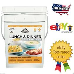 Augason Farms 92 Servings Emergency Food Supply Lunch & Dinner Pail Storage
