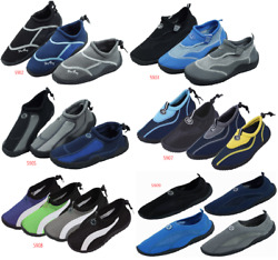 New Men#x27;s Athletic Mesh Water Shoes Aqua Socks Available In Multiple Styles $11.95