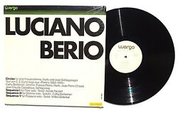 LUCIANO BERIO Circles Sequenza I-V LP Wergo Wer 60021 GER 1973 In Shrink NM- CL2