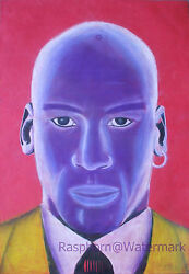 Michael Jordan Pop Art Original Signed Artwork 16