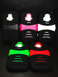 ZTE Radiant Z740 AT&T Phone STAND ARMOR Case Protector BRIGHT silicon $6.50