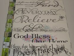 Inspirational Wall Decals Wall Decorations Biblical Sayings God Bless Lord $6.00